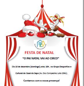"""FESTA DE NATAL """"O PAI NATAL VAI AO CIRCO"""""""